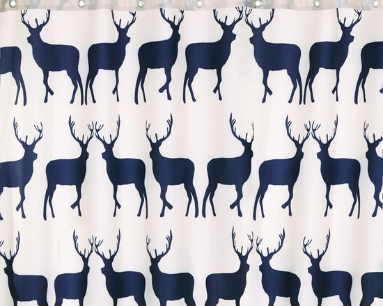 Anorak Kissing Stags Shower Curtain -