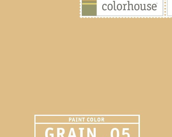 Colorhouse GRAIN .05 - Colorhouse GRAIN .05: GRAIN with a pop, but not too gold, it stays neutral and won't go green it you have a lot of reflective green coming in from outside. Rich, slightly bold, welcoming, comforting, warm without getting dark.