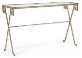 SILVER GREEK KEY CONSOLE buffets-and-sideboards