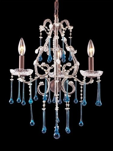 Opulence 3 Light Mini Candle Chandelier modern-chandeliers