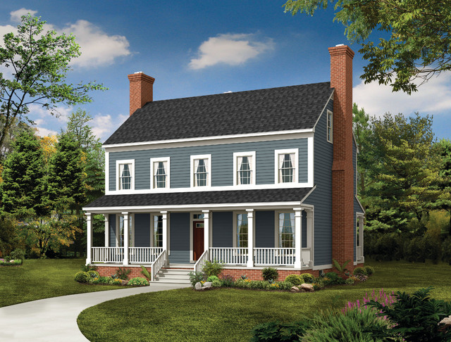 house plan hwepl05795 farmhouse exterior elevation
