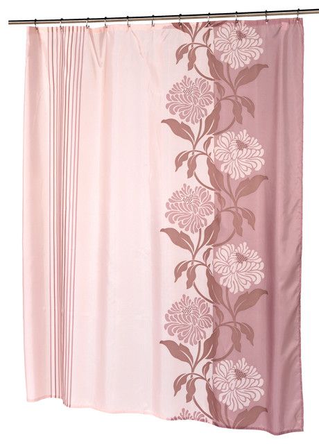 chelsea fabric shower curtain in mauve contemporary shower curtains