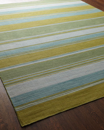 Jaipur Rugs Lime Green Stripe Rug, 5 x 8 traditional rugs