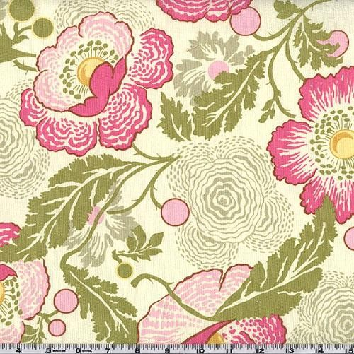 Amy Butler Midwest Modern Fresh Poppies Fuchsia Fabric contemporary fabric