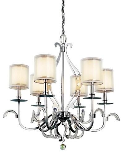 Kichler 42302CH Jardine 6-Light Chandelier - 31.5W in. Silver Finish contemporary-chandeliers