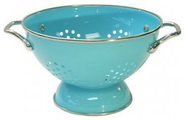 Turquoise Colander contemporary-colanders-and-strainers