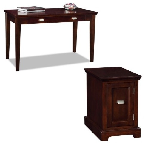 Leick Laptop Desk With Printer Stand Chocolate Cherry