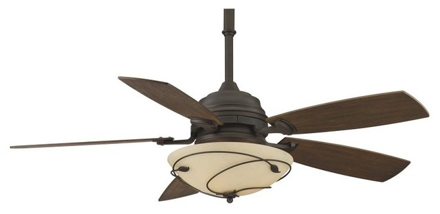 Fanimation Hubberton Leaf 54 in. Indoor Ceiling Fan with Light - HF6200BZ contemporary-ceiling-fans