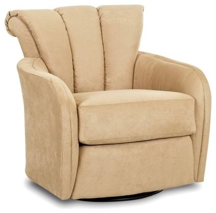 Klaussner Spins Microsuede Swivel Glider Traditional Rocking Chairs By