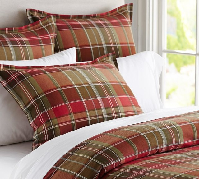 Tahoe plaid duvet cover traditional duvet covers and duvet sets