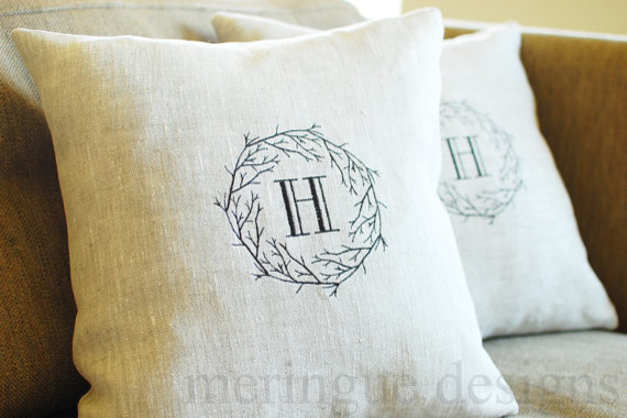 ... Monogrammed Outdoor Rugs By Branches Monogram Linen Pillow Cover By  Meringue Designs ...