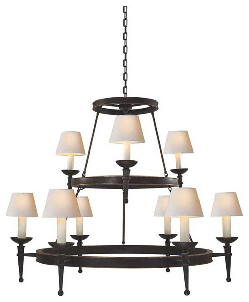 Dorset Two-Tier Chandelier With Torch Arm chandeliers