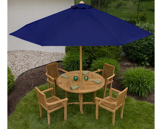 Color! - Enjoy a sunny day while being protected from harmful UV rays with this 10 ft. Market Umbrella. Made of weather-resistant teak, this outdoor umbrella is available in several different shade color options.