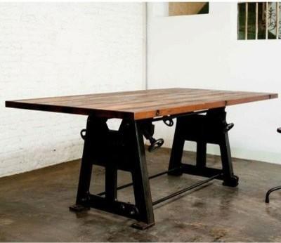 Nuevo V3 Press Leg Reclaimed Wood Top Dining Table Modern Dining Tables