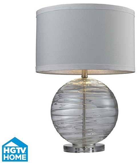 hgtv home mouth blown glass table lamp table lamps houston by. Black Bedroom Furniture Sets. Home Design Ideas