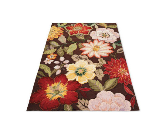 Grandin Road - Juliette Indoor Rug - Micro petit point and hand-hooked yarn construction. High-density polyacrylic blend. Use with our Nonslip Rug Grip (sold separately). Professional cleaning recommended. Our flowering Juliette Rug bursts with detailed color combinations to create visual depth in warm hues of sage, burgundy, and lavender. This exquisite floral composition blends fine petit point with hand-hooked yarns for added strength and durability.  .  .  .  . Imported.