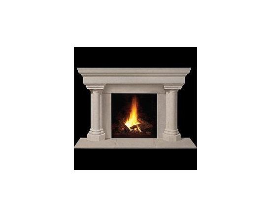 Torino Stone Fireplace Mantel -