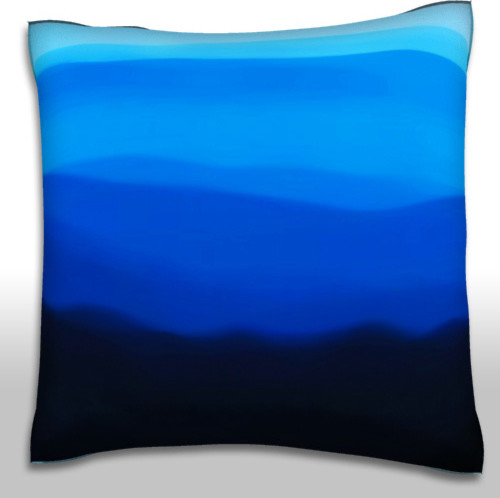 Dark Fog Hill Pillow. Polyester Velour Throw Pillow - Contemporary - Decorative Pillows - by ...