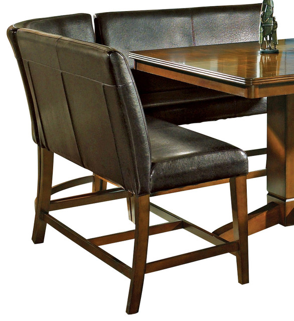 Counter Height Dining Bench : ... Silver Plato Counter Height Bench in Brown traditional-dining-chairs