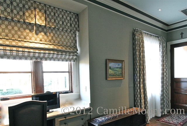 Roman Shade With Box Pleated Valance Traditional Home
