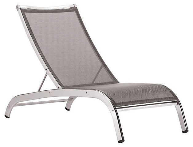 Lucca '3 Series' Armless Lounge Chair - modern - outdoor chaise ...