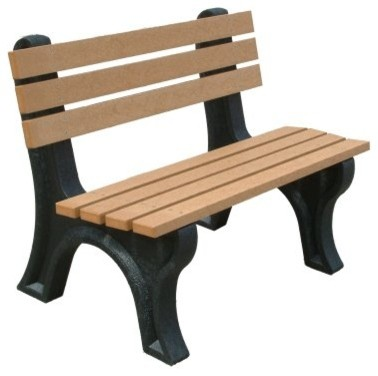 Econo-Mizer 4-ft. Commercial Grade Armless Park Bench modern-patio-furniture-and-outdoor-furniture