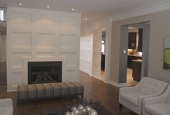 Accent Wall Wainscoting Traditional Living Room