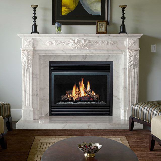 Fireplace Mantels Marble Traditional