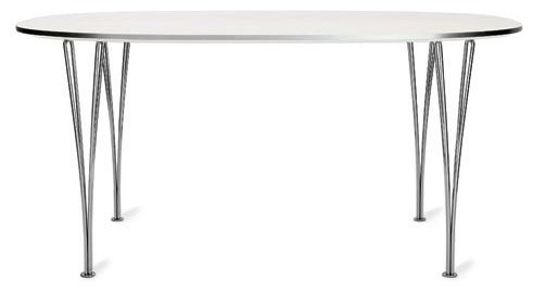 Super Elliptical Extension Table midcentury-dining-tables
