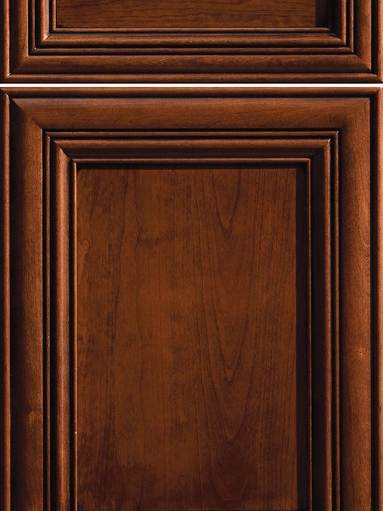 """Dura Supreme Cabinetry - Dura Supreme Cabinetry South Haven Cabinet Door Style - Dura Supreme Cabinetry """"South Haven"""" cabinet door style in Cherry shown with Dura Supreme's """"Mission"""" with """"Charcoal"""" Glaze finish."""