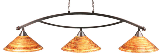 Toltec 873-BC-414 Black Copper Finish 3-Light Downlight Bow Bar transitional-kitchen-lighting-and-cabinet-lighting
