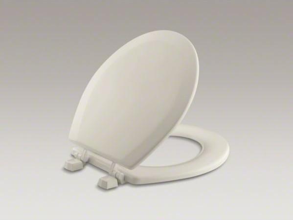 KOHLER Triko(TM) round toilet seat with plastic hinges contemporary-toilets