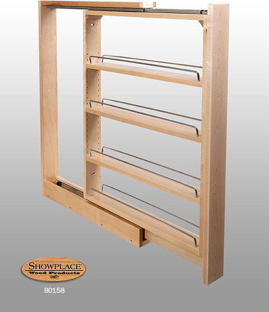 ... Slim Pull-out Rack - Showplace Cabinets traditional-kitchen-cabinets