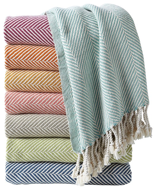 Herringbone Throw contemporary throws