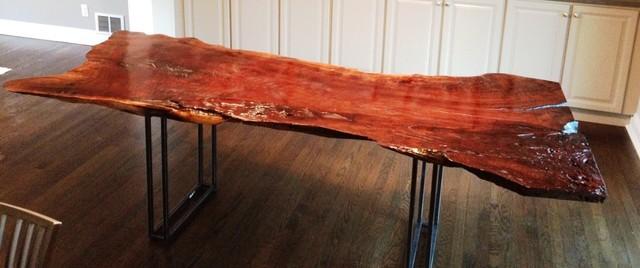 Rust & Grain Slab Table contemporary-furniture