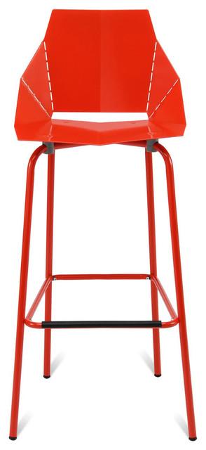 Blu Dot Real Good Barstool, Red modern-bar-stools-and-counter-stools
