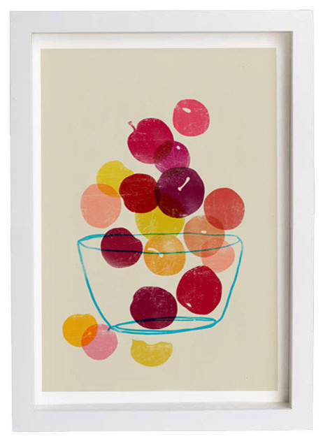 Plums Kitchen Art Print by Anek contemporary-artwork