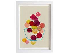 Plums Kitchen Art Print by Anek contemporary-artwork