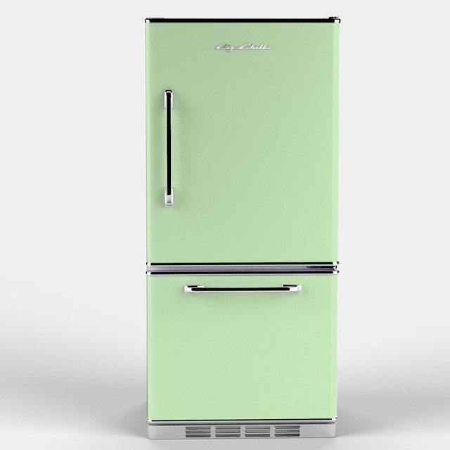 Retropolitan Fridge, Jadite Green eclectic refrigerators and freezers