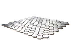 Honeycomb Hexagon Mosaic Stainless Steel Tile contemporary kitchen tile
