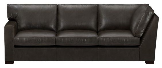 Axis Leather Left Arm Corner Sectional Sofa modern-sectional-sofas