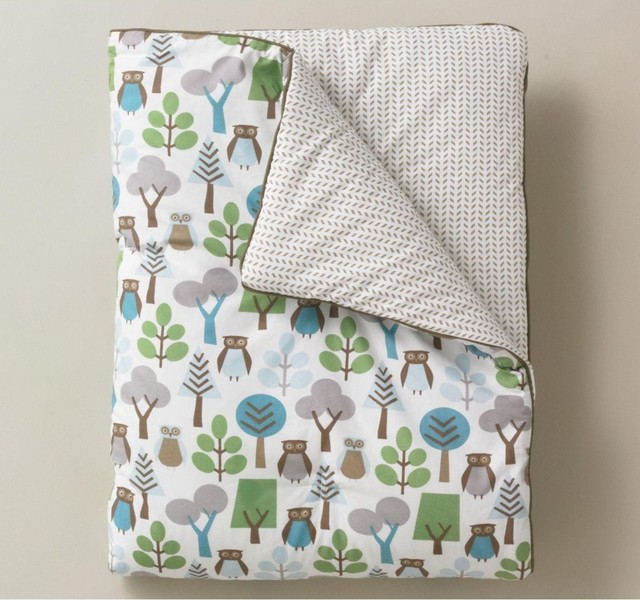 dwell studio owls sky play blanket traditional baby