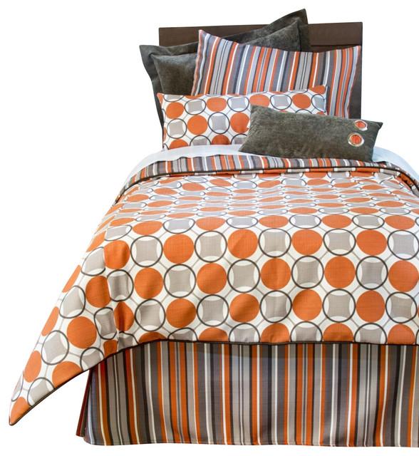 Echo Reversible Circle and Stripe Children's Duvet Full/Queen contemporary-duvet-covers-and-duvet-sets
