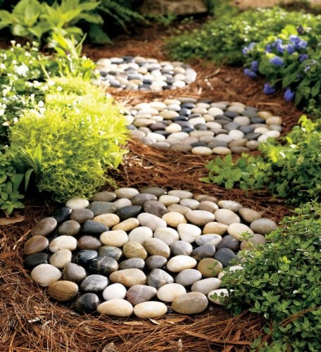 River Rock Stepping Stones - traditional - outdoor decor - by Amazon