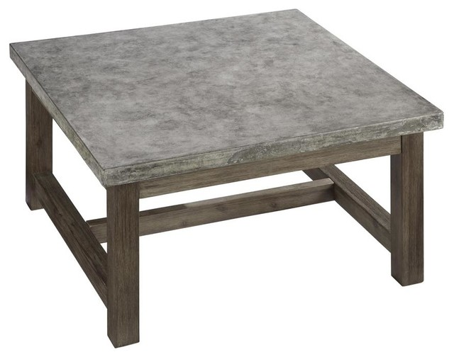 Concrete Chic Square Coffee Table Contemporary Coffee Tables By Shopladder