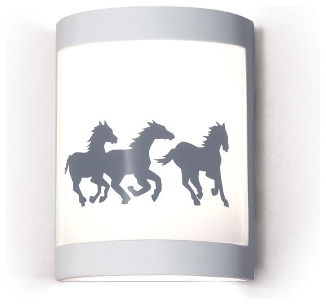 Cheyenne Mustangs/Western/Horse Themed Silhouette Wall