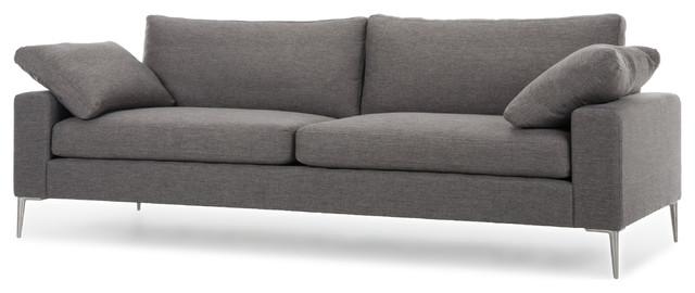 nova light gray metal leg sofa contemporary furniture