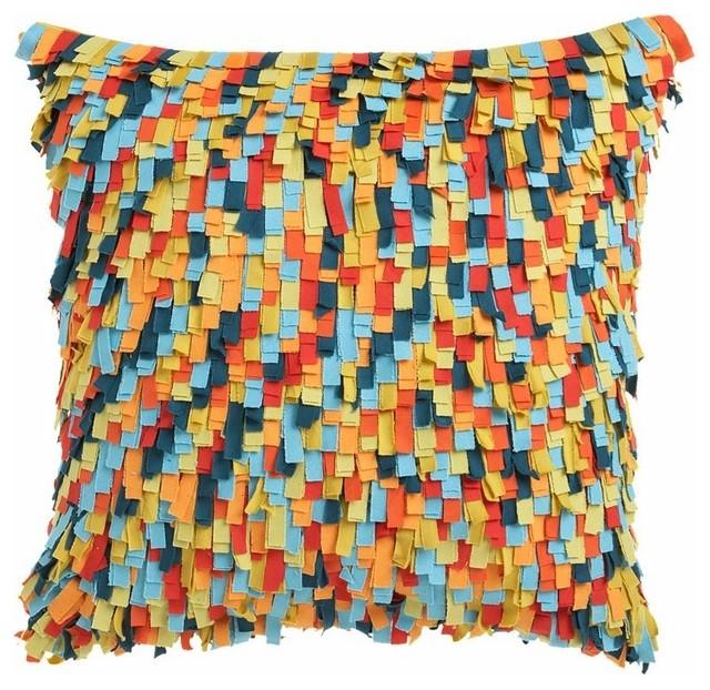 "Shaggy Multi 20"" Pillow eclectic-decorative-pillows"