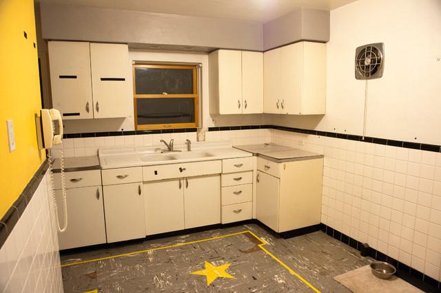 Retro Kitchen Remodel traditional