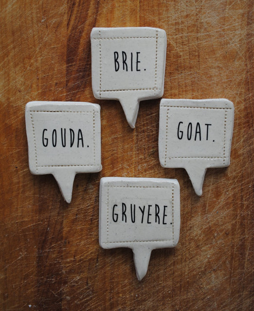Handmade Cheese Markers by Nelle Design contemporary-serveware